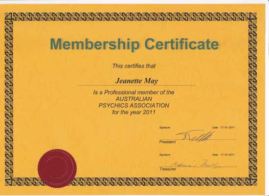 Member of Australian Psychics Association